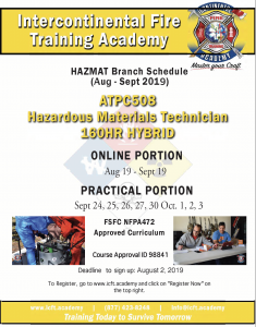 HAZMAT training start dates